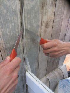 3. PLakfolie schoonsnijden