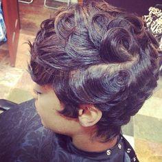 by (All Hair by latise ) Love Hair, Great Hair, Gorgeous Hair, Beautiful, Pompadour, Short Hair Cuts, Short Hair Styles, Teresa, Sassy Hair
