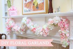 DIY Flower Garland for Baby Shower