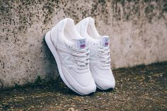 New Balance 'Made In England' Pack. They come in two colorways (off- white & obsidian). Both of the sneakers come with a textured white midsole. Subtilte textures are also showcasing on the body, including a snake-skin pattern.