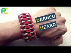 How to make Paracord Bracelet Darned Heart Paracord Tutorial, Paracord Knots, Paracord Bracelets, Bracelet Tutorial, Macrame Bracelet Patterns, Quilling Earrings, Braids With Weave, Bracelet Crafts, Macrame Knots