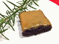 My Dark Chocolate Rosemary Brownies with Caramel
