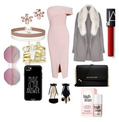 A fashion look from May 2017 featuring bodycon cocktail dresses, tall jackets and heel pump. Browse and shop related looks. Bodycon Cocktail Dress, Marchesa, Miss Selfridge, Nine West, Casetify, Pumps Heels, River Island, Fashion Looks, Michael Kors