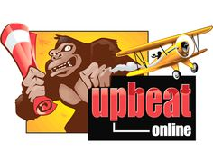 A King Kong inspired logo for a web-based entertainment magazine, this design for Upbeat Online was developed almost 20 years ago by our team.