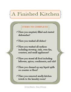 Kitchen Cleaning Checklist Printable
