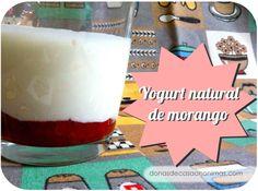 receita de yogurt natural de morango