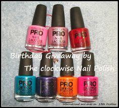 The Clockwise Nail Polish: Birthday Giveaway