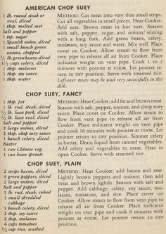 1957 La Choy Chinese Foods Ad With Chop Suey Recipe In 2019 Chop Suey Vintage Recipes Retro