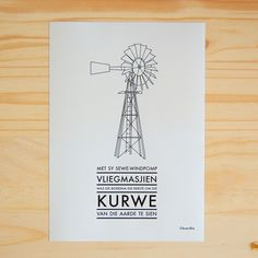 (Dont really understand the Afrikaans, but love the windmill print!)