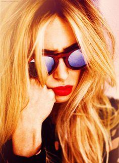 blonde red