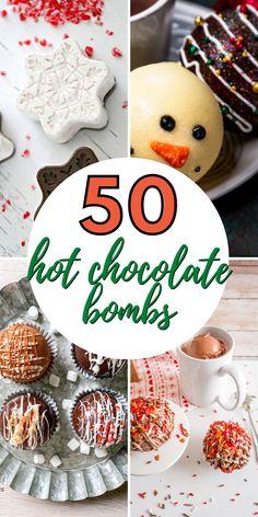 Hot Chocolate Gifts, Christmas Hot Chocolate, Chocolate Spoons, Homemade Hot Chocolate, Chocolate Bomb, Hot Chocolate Bars, Hot Chocolate Recipes, Christmas Sweets, Christmas Baking