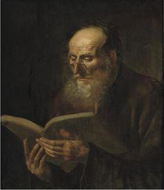 Dirk van hoogstraten- bearded man reading