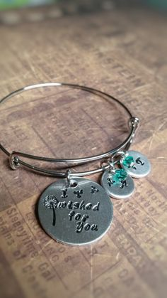 Dandelion Wish Bracelet, Personalized, Hand Stamped Jewelry, Mother's Jewelry, Mothers Day, Gift for Mom, New Mom Gift, Adoption Gift by ImpressionsbyJacleen on Etsy