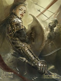 Goddess of Victory Art of Eve Ventrue