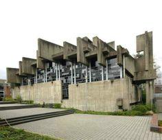 Die Kirche der Hochschulgemeinde (St.Johannes church) - by sculptor Josef Rikus and architect Heinz Buchmann, Cologne, 1968-1969