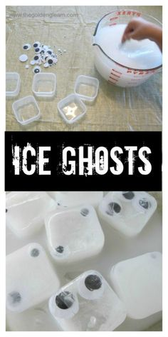Ready for Halloween Sensory Play in the Sink? It& time to share a spooky idea with ice ghosts for sensory play. Theme Halloween, Halloween Science, Halloween Week, Halloween Activities For Kids, Holidays Halloween, Halloween Treats, Autumn Activities, Halloween Carnival, Summer Activities
