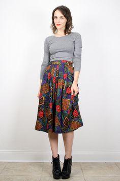 Vintage Midi Skirt Southwestern South Western by ShopTwitchVintage