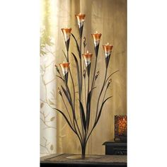 Wholesale Dawn Calla Lilies Candle Holder: Iron