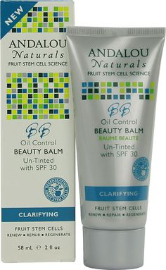 Andalou Naturals Clarifying Oil Control Beauty Balm Un-Tinted with SPF30. Cruelty free and certified non-GMO and it's an amazing product without icky chemicals.