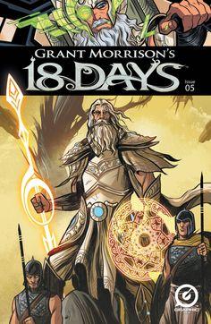 Grant Morrison's 18 Days - Comics by comiXology Comic Book Covers, Comic Books, Grant Morrison, 18 Days, Morrisons, D D Characters, Obi Wan, God Of War, Cover Art