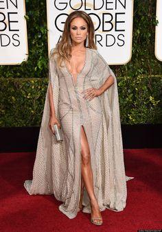 Jennifer Lopezs 2015 Golden Globes Dress Leaves Nothing To The Imagination- Huffington Post Canada
