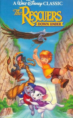 An 1990 sequel to the original Rescuers film. Bernard and Bianca are sent to Australia to rescue Cody, a young boy abducted by McLeish the poacher. Meanwhile Bernard is working up the courage to ask his partner to marriage. 1990 Movies, Kid Movies, Movies And Tv Shows, Movie Tv, Movie Props, Netflix Movies, The Rescuers Down Under, Movies To Watch Online, Walt Disney Pictures