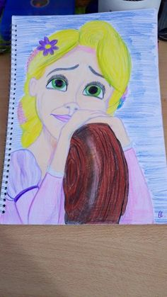 Disney /tangled /Rapunzel /my work / painting / colour pencils / by El.