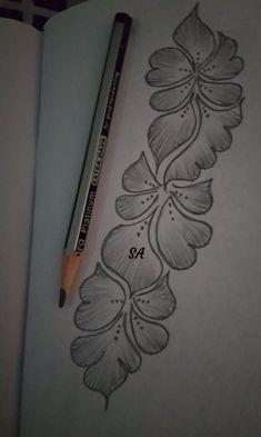 40 Easy Flower Pencil Drawings For Inspiration Full Hand Mehndi Designs, Simple Arabic Mehndi Designs, Indian Mehndi Designs, Mehndi Designs For Girls, Mehndi Designs For Beginners, Modern Mehndi Designs, Mehndi Design Pictures, Mehndi Designs For Fingers, Beautiful Mehndi Design