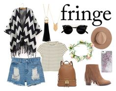 """""""Fringe"""" by mariymary ❤ liked on Polyvore featuring Sam Edelman, Sparkling Sage, Monki, Forever 21, Calypso Private Label, Skinnydip, Michael Kors and fringe"""