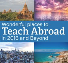 If teaching abroad is a new years resolution of yours, be sure to consider one of these up and coming places to teach abroad in 2016.