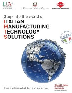 Italy will be at IMTS and MDA North America September 8-13, 2014 in Chicago with well over 100+ Italian companies.  Visit us at the shows in booths N-717 and E-4848. More info at www.italyimtsmda.weebly.com