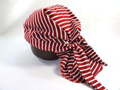 Mützen - Piratentuch, roter Ringel - ein Designerstück von joerle-moden bei DaWanda