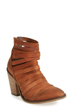 'Hybrid' Strappy Leather Bootie (Women)