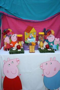 Peppa Pig Birthday Party!  See more party ideas at CatchMyParty.com!