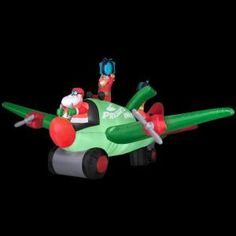 Gemmy 6.5 ft. Animated Inflatable Santa in Airplane-34735 at The Home Depot  $149.00 / each