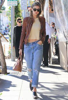 Street style da modelo Gigi Hadid.
