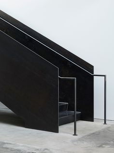 Stairs - black steel - Jet City Winery by Olson Kundig                                                                                                                                                                                 More