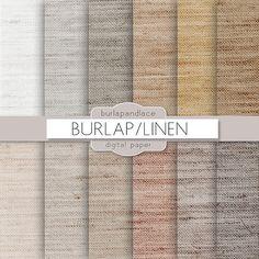 Burlap/linen natural digital paper by burlapandlace on Creative Market