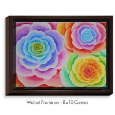 DiaNocheDesigns 'Joyous Flowers I' by Jennifer Baird Painting Print on Wrapped Framed Canvas