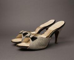 1950s Black and White Kitten Heels | Springolators from BloomersAndFrocks on Etsy, $68.00