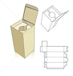 Wine carton box template