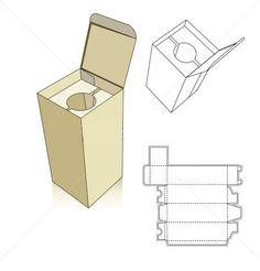 Wine carton box template