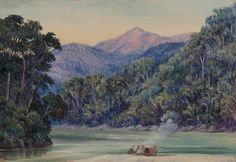 Meeting of the Rivers near Darjeeling, Marianne North Royal Botanic Gardens, Kew.