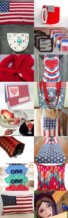 Red White and Blue... A Collection Gifts by Ludy on Etsy--Pinned+with+TreasuryPin.com