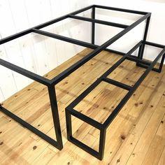 Outdoor Furniture Plans, Built In Furniture, Wood Pallet Furniture, Steel Furniture, Home Decor Furniture, Industrial Furniture, Furniture Design, Esstisch Design, Industrial Kitchen Design
