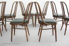 Original Bentwood Dining Chairs Set of 8 Ligna Vintage Retro Mid Century thonet in Home & Garden, Furniture, Dining Room Furniture   eBay 360 Modern Furniture