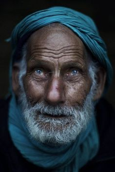 Elderly Pakistani, Rafiq Moar Khan, 103, a retired military officer, is seen in a market in Islamabad, Pakistan