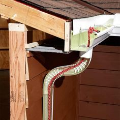 Annoying Drips: 13 Easy Gutter Fixes - Solve gutter problems with these easy fixes http://www.familyhandyman.com/roof/gutter-repair/easy-gutter-fixes#3