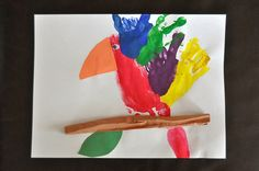 Handprint/Footprint Parrot (from Sorting Sprinkles)