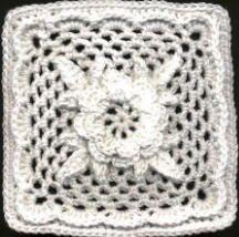 Irish Rose Square - crochet free pattern